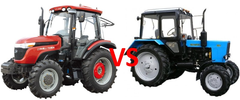 Сравнение тракторов: белорусский МТЗ против китайского Wuzheng